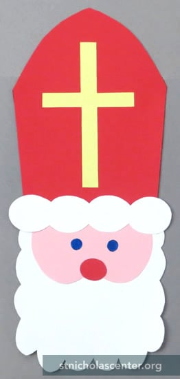 St. Nicholas face and miter