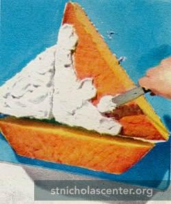 St Nicholas Center Sailboat Cake