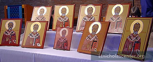 Class icons in chapel