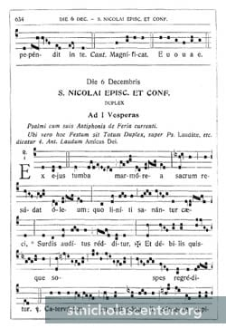 Dominican Propers notation