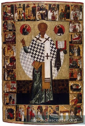 Life of St Nicholas icon