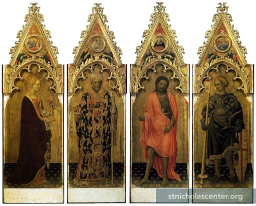 Nicholas with saints