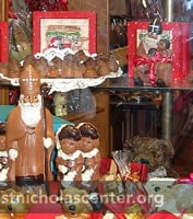 Chocolate Saints in Window Display