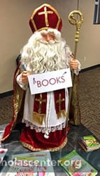 St Nicholas with Books sign