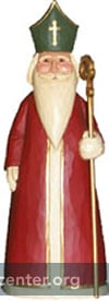 St Nicholas, woodcarving by Tim Jumper