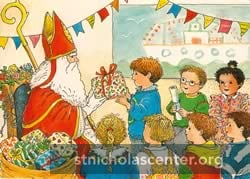 Dutch Sinterklaas Postcard