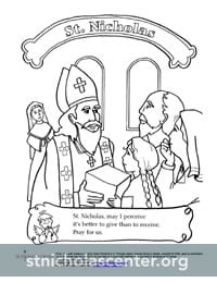 St Nicholas Center Coloring Activity Sheets
