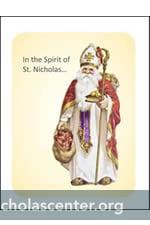 Striking image intended for st nicholas prayer printable