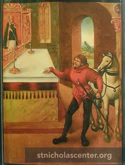 Man and horse by St Nicholas altar