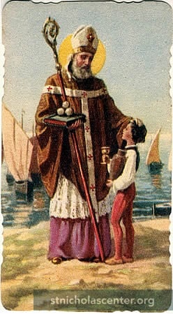 St Nicholas with child
