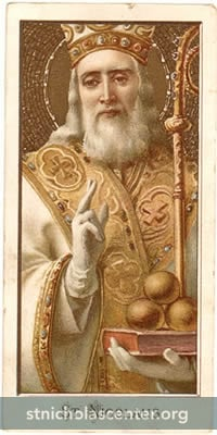 St Nicolaus holy card