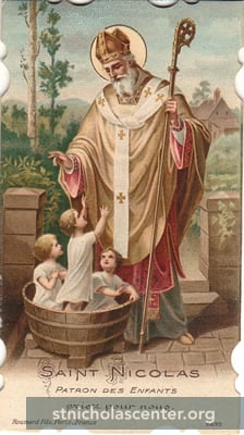 St Nicolas, French Holy Card