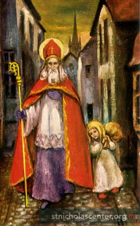 St. Nikolaus with children