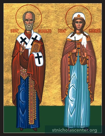 Saints Nicholas & Barbara standing
