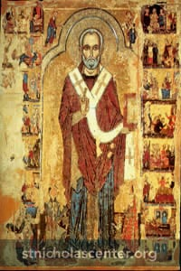 St Nicholas with scenes of his life