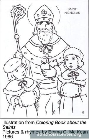 St nicholas center activity resource for St nicholas coloring pages
