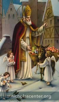 St Nicholas with angels