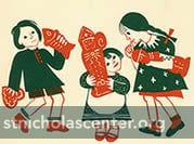 Children with St. Nicholas cookies