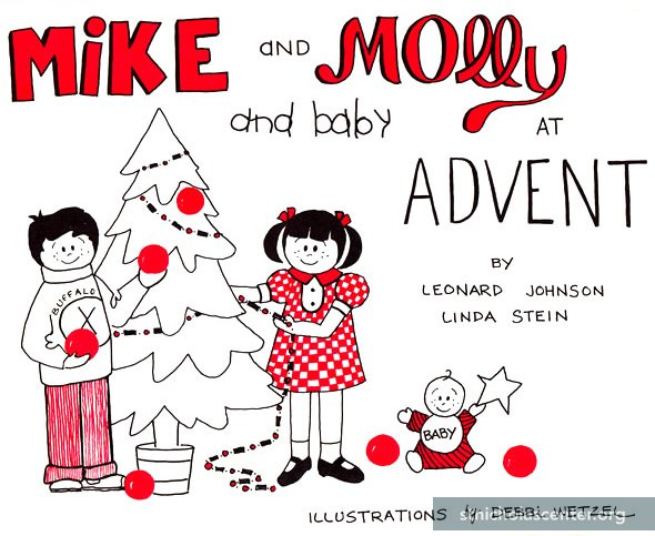 Mike and Molly and Baby at Advent
