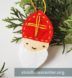 Fabric St Nicholas Ornament