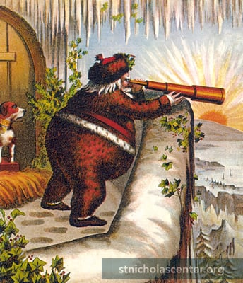 An early Nast Santa cartoon