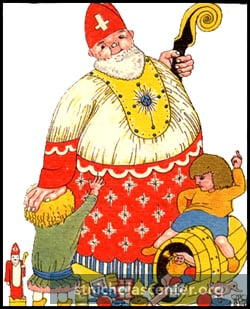 Saint Nicholas with two children