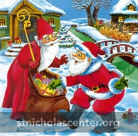 St Nikolaus and Santa Claus