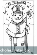 St Nicholas Center Coloring St Francis Of Assisi Coloring Page