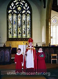 Boy Bishop with attendants