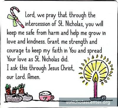 Inventive image throughout st nicholas prayer printable