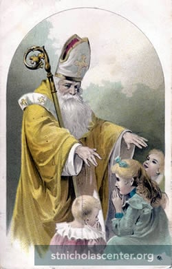 St Nicholas blessing children