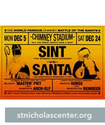Santa and Sint match