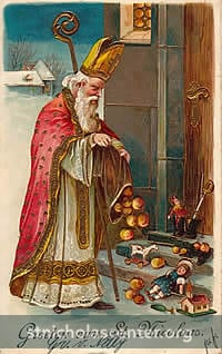 St Nicholas leaving gifts