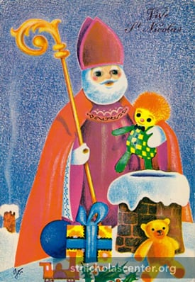 St Nicholas with gifts