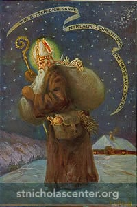 Saint Nicholas in brown
