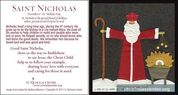 Accomplished image throughout st nicholas prayer printable