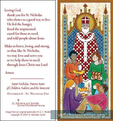 photo about St Nicholas Prayer Printable named Prayer Playing cards ::: St. Nicholas Heart