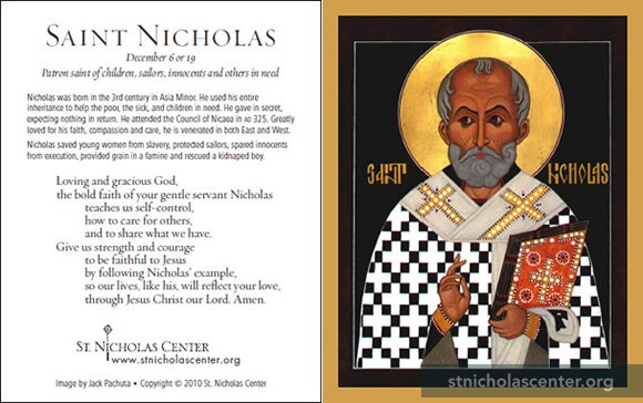 Influential image within st nicholas prayer printable