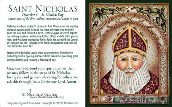 Playful image within st nicholas prayer printable