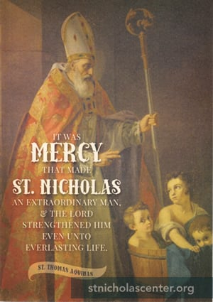 St Nicholas with children