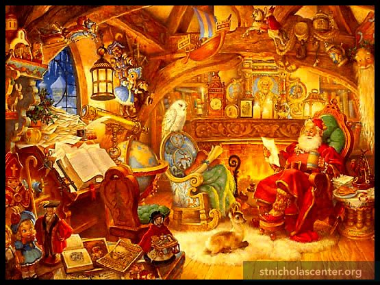St Nicholas in his Study by Scott Gustafson
