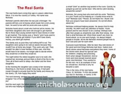 The Real Santa one page