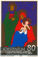 Liechtenstein Nativity stamp