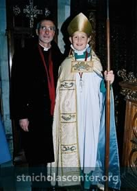 Boy Bishop with father