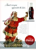 Standing Santa with Coke