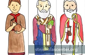 Three Saint Nicholas figures