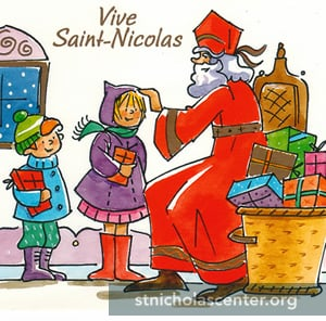 St Nicholas, French postcard