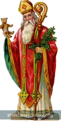 St Nicholas with tree and bear