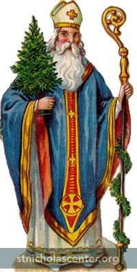 St Nicholas with tree and crozier