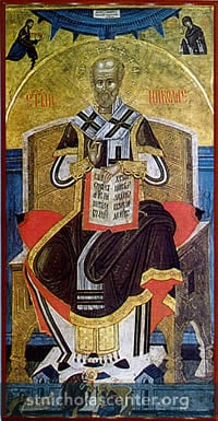 Saint Nicholas enthroned